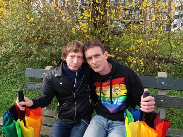 Patryk (links) en Grzegorz