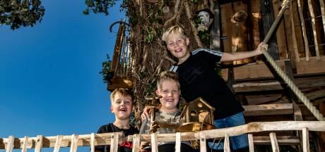 Finn, Mats en Kay bouwen de mooiste boomhut van Nederland, gewoon in Oxe