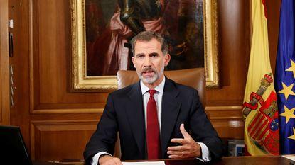"Spaanse koning noemt Catalaanse leiders ""onverantwoordelijke wetsovertreders"""