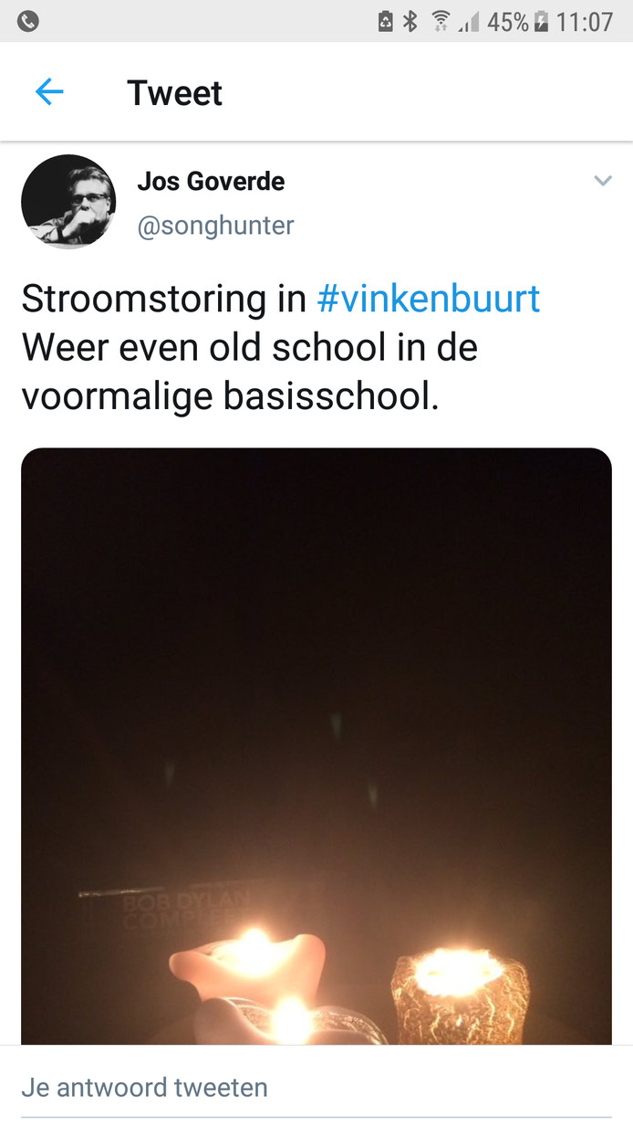 In Vinkenbuurt moesten ouderwets de kaarsjes aan.