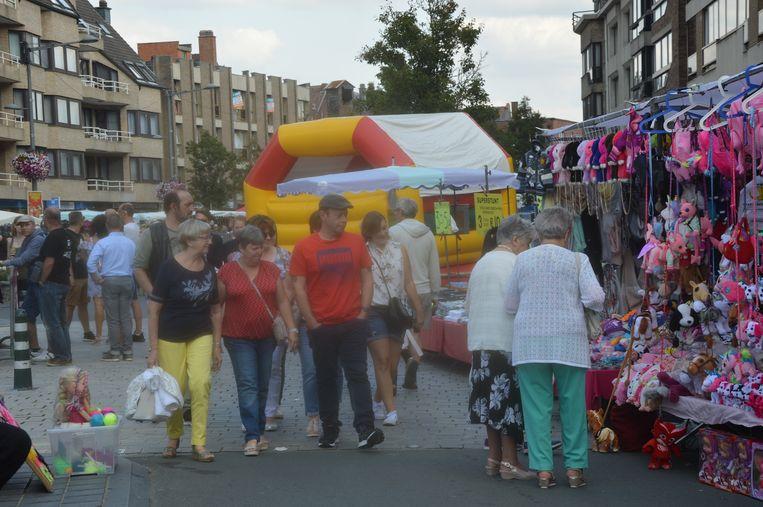 Ook op de Centrumlaan was er veel volk.