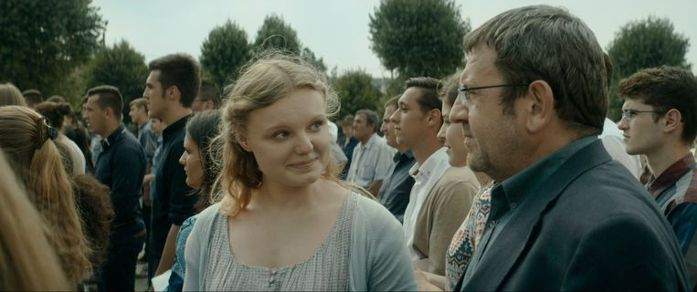 Maria Dragus en Adrian Titieni in Bacalaureat van Cristian Mungiu Beeld