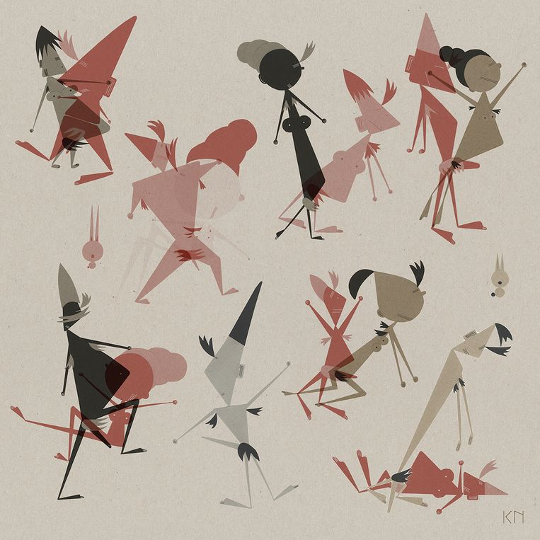 Een van de illustratiewerken van Kristel Nijskens.