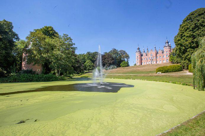 Het gemeentepark met kasteel de Viron en bijgebouwen staan op de lijst van erfgoed.