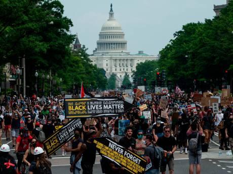 Tienduizenden betogen in Washington tegen racisme en politiegeweld, minder dan verwacht