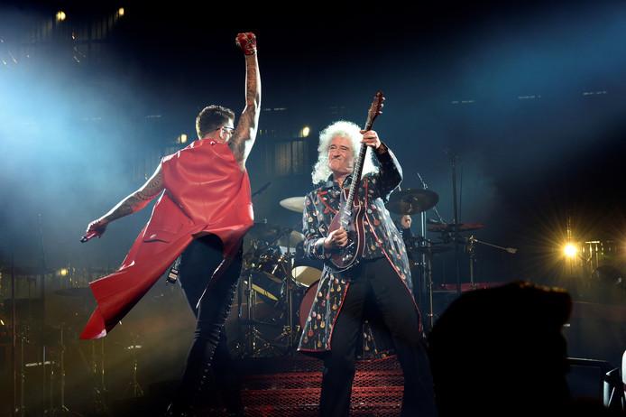Queen-gitarist Brian May en zanger Adam Lambert.