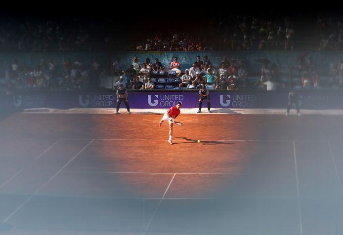 Tennis - Adria Tour - Belgrade, Serbia - June 13, 2020   Serbia's Novak Djokovic in action during his match against Serbia's Viktor Troicki   REUTERS/Marko Djurica