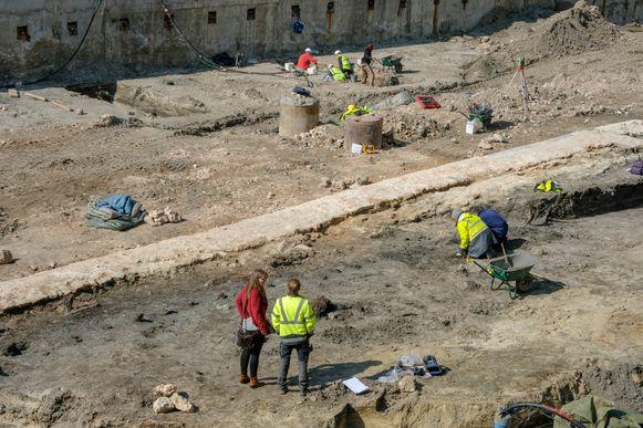Archeologische opgravingen Parking 58