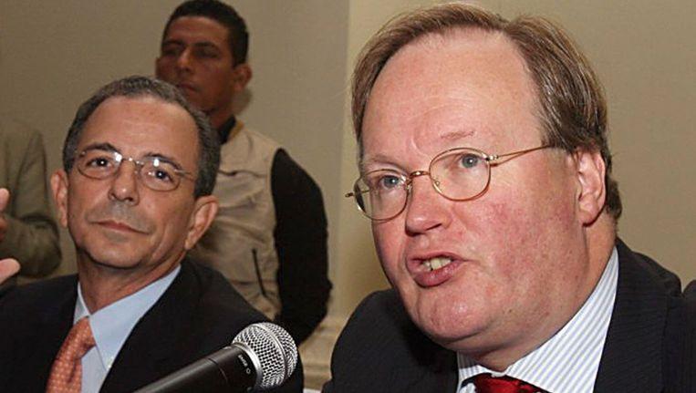 Hans van Baalen (r). Beeld AFP