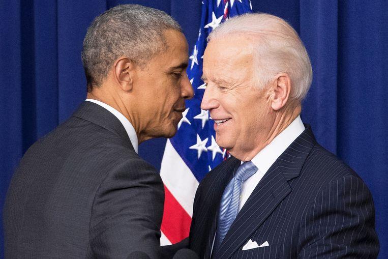 Barack Obama en Joe Biden op archiefbeeld.