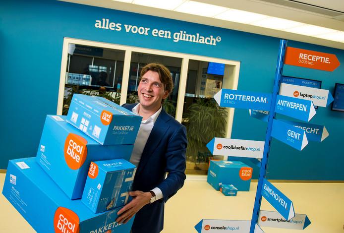 Coolblue-oprichter en baas Pieter Zwart. Zijn webwinkel haalde vorig jaar ruim 850 miljoen euro omzet en schiet dit jaar door het miljard heen.