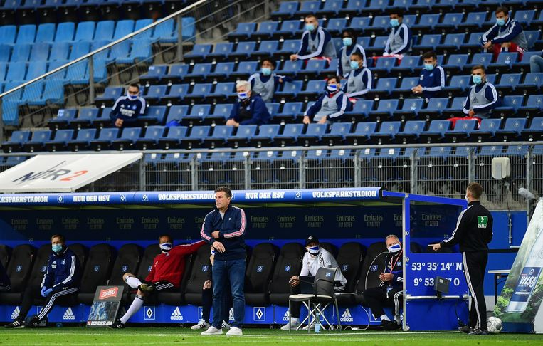 Zo zien de tribunes er nu uit in de Duitse Bundesliga.  Beeld BSR Agency
