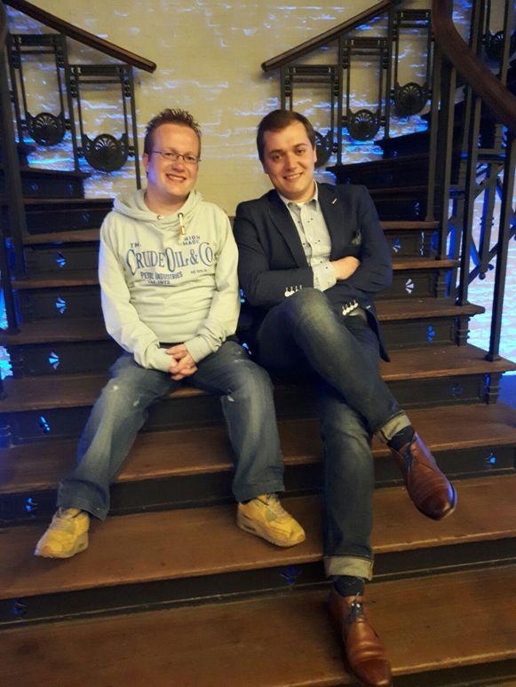 Jerry Van Echelpoel (34, l.) en Laurenz Van Ginniken(23).