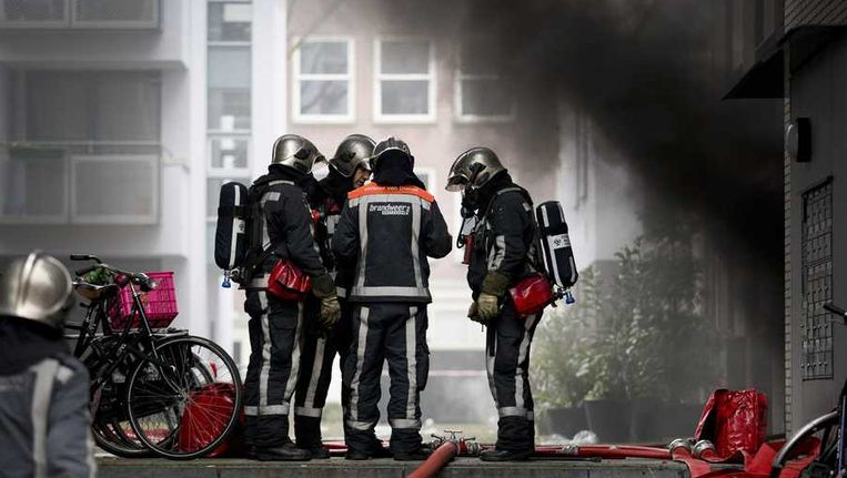 Tijdens de brand. Beeld anp