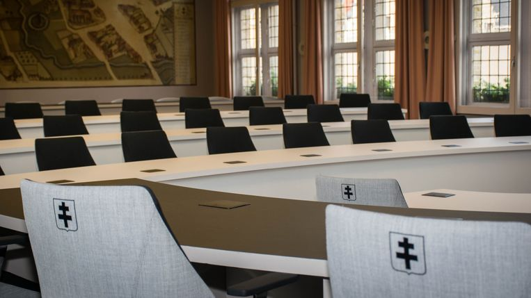 De Roeselaarse gemeenteraadszaal.