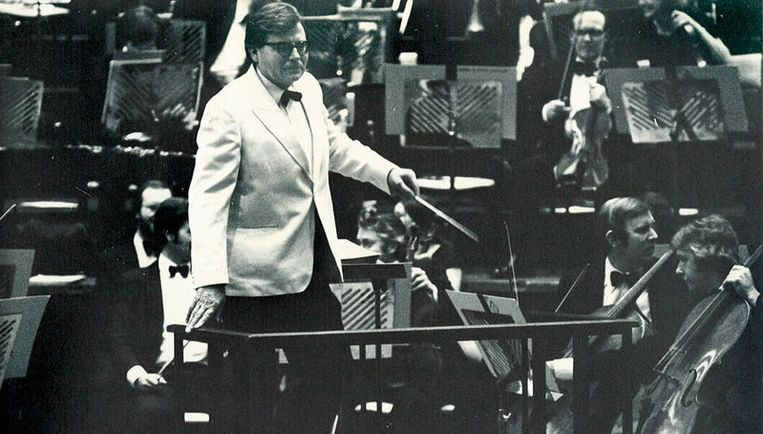 Dirigent Edward Downes in 1979. Foto ANP Beeld