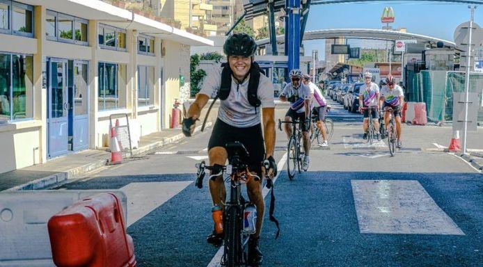 Jelle Mars uit Wijhe fietste van Wijhe naar Gibraltar (3000 kilometer) voor het goede doel.