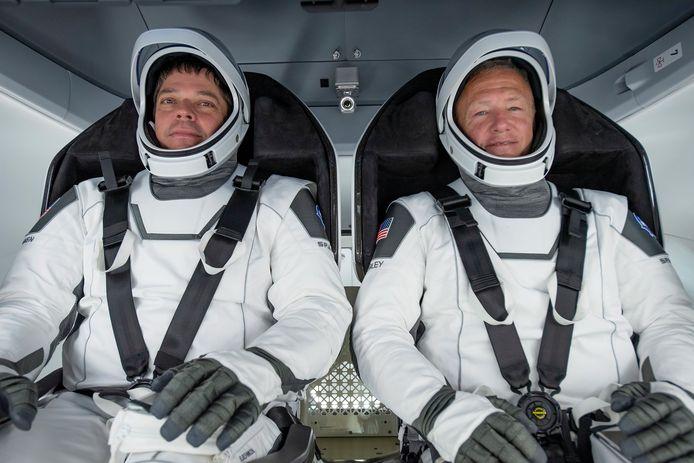 De astronauten Bob Behnken (links) and Douglas Hurley.