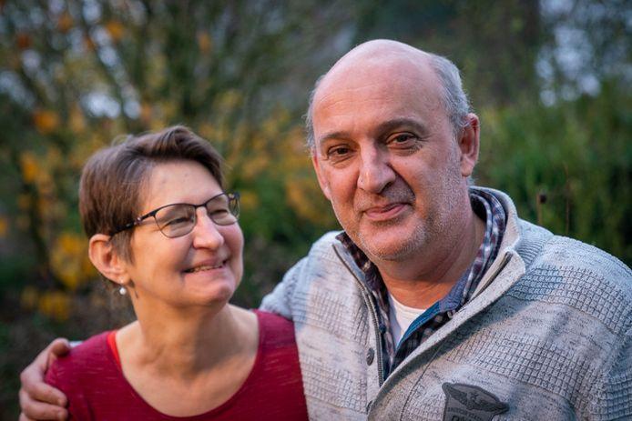 Margreet Meijer heeft door een nier van haar man Ronald het leven teruggekregen.