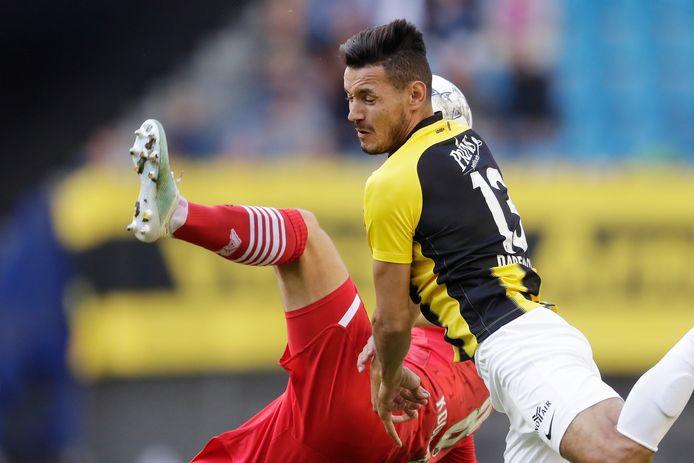 Oussama Darfalou maakt zijn minuten bij Vitesse in het beloftenteeam.
