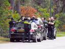 Politieactie in Maarheeze.