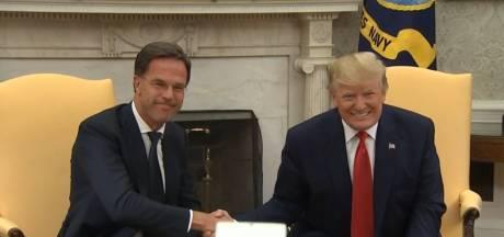 Trump ontvangt 'vriend' Rutte in het Witte Huis