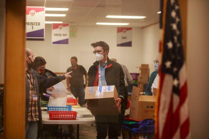 Een stembureau in de Amerikaanse staat Indiana.