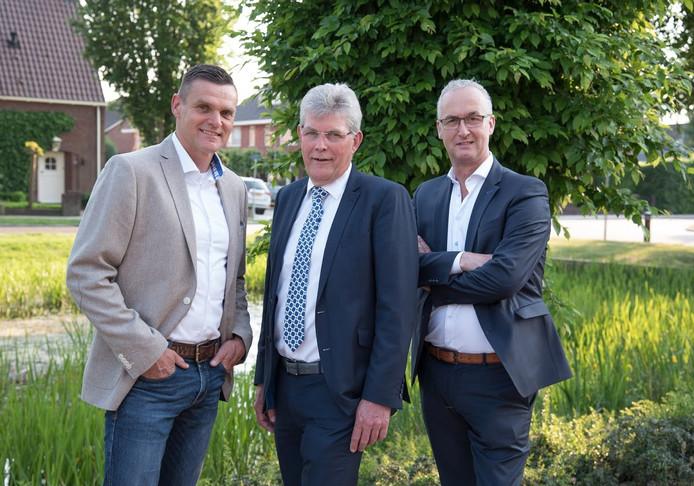 De wethouders van linksaf: Eric Braamhaar, Johan Coes en Richard Kortenhoeven.