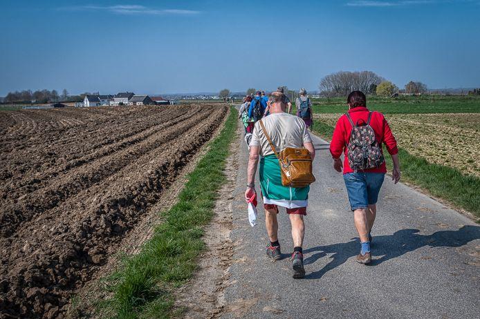 Wandelen langs Evergemse wegen.