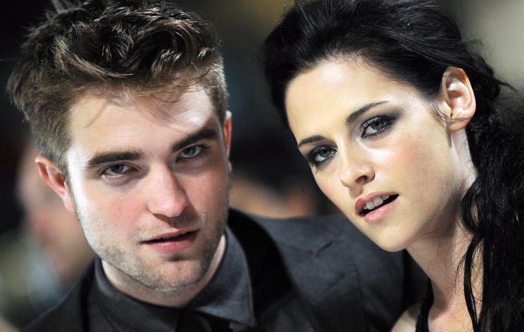 Robert Pattinson en Kristen Stewart op promotournee voor de voorlaatste 'Twilight'-film, nog voor de bom barstte dus.