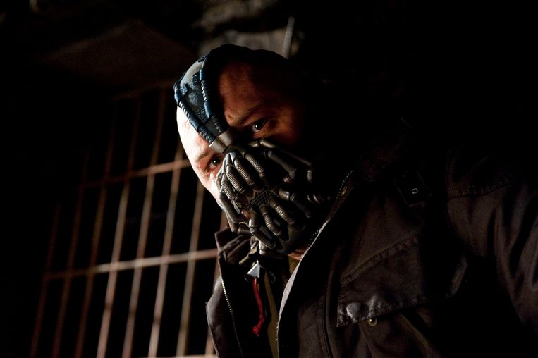 Tom Hardy in The Dark Knight Rises (Christopher Nolan, 2012). Beeld