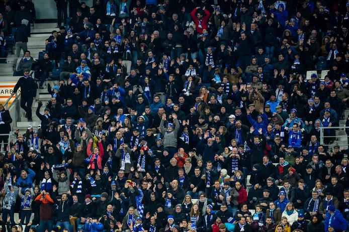 De Gent-fans in actie.