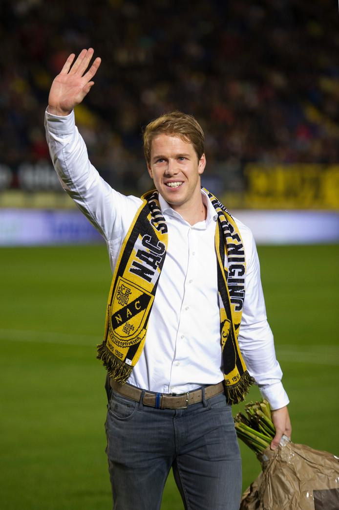Breda - 18-10-2014 - foto: roy lazet - NAC - ADO - eredivisie - seizoen 2014-2015 - afscheid Tim Gilissen