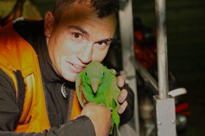 Paco werd gered door de brandweer
