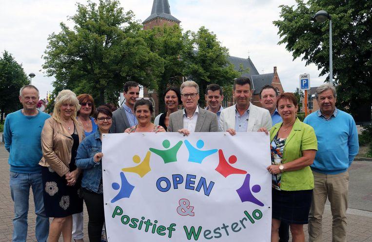 De leden van Open & Positief Westerlo.