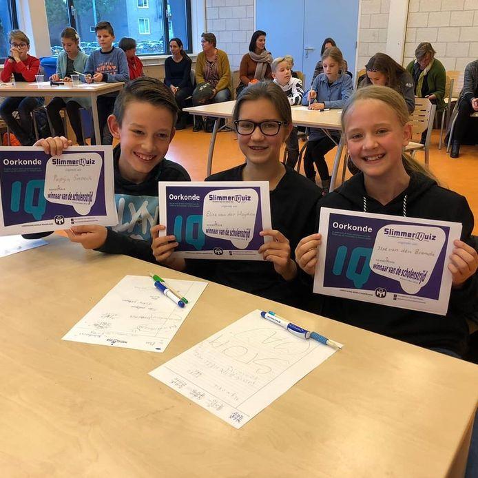 Pepijn, Elise en Ilse bij de winst van de Zeeuwse voorrondes.