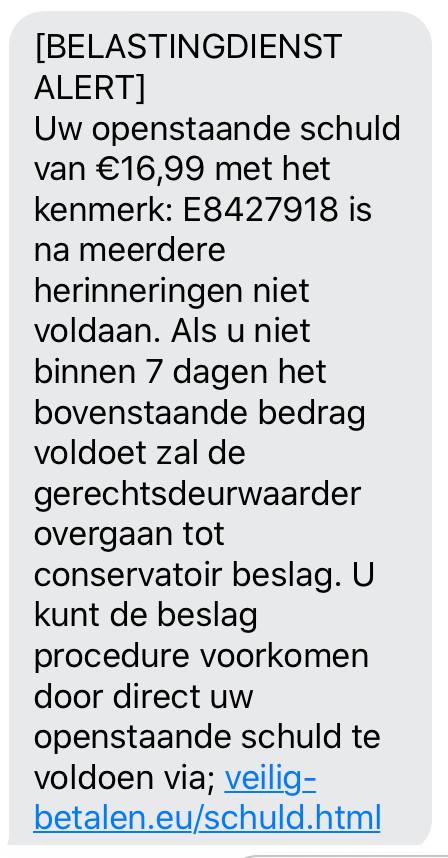 Een valse SMS