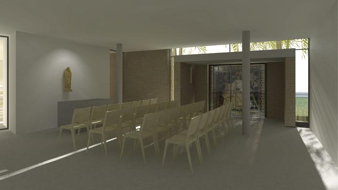 Impressie van de vernieuwde OLV ten Hemelopneming-kerk in Prinsenbeek.