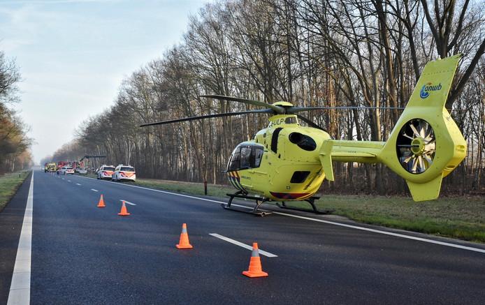 Een traumahelikopter werd opgeroepen.