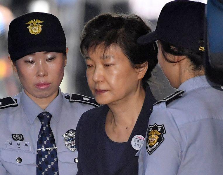 Park Geun-hye (C).