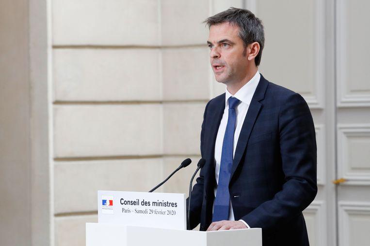De Franse minister van Volksgezondheid Olivier Veran.