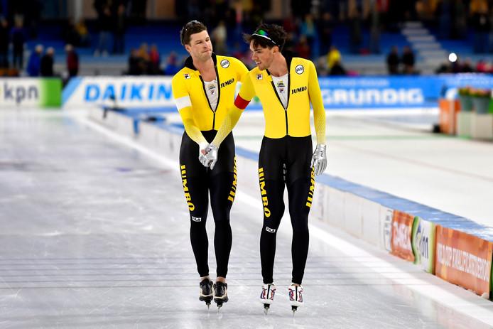 Sven Kramer en Patrick Roest.