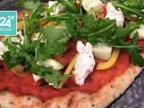 Pizza van naan met ricotta