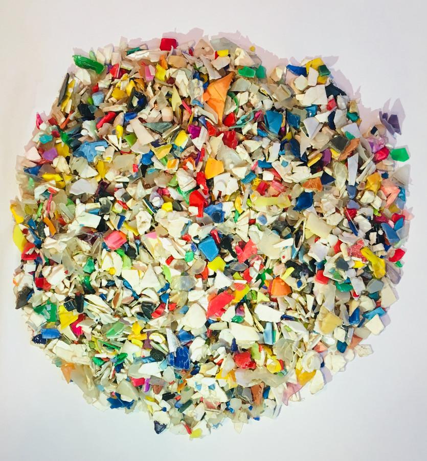 Gescheiden plastic afval.