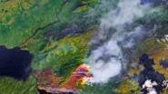 Satellietbeelden onthullen: grote delen van de Noordpool staan in brand