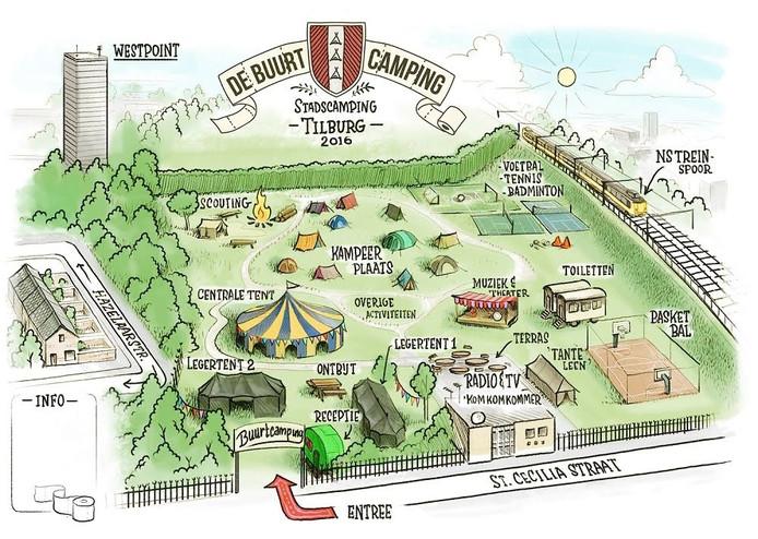 Op de stadcamping in Tilburg is er van alles toen doen. Bekijk de plattegrond.