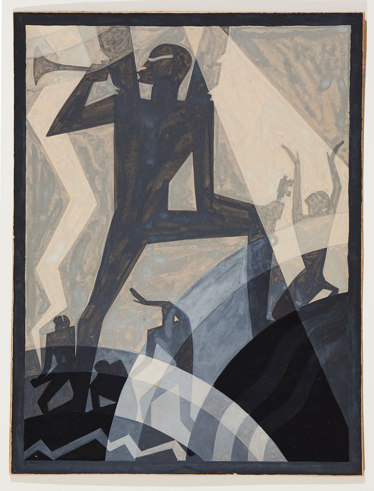 Aaron Douglas, The Judgement Day, 1927. Beeld null