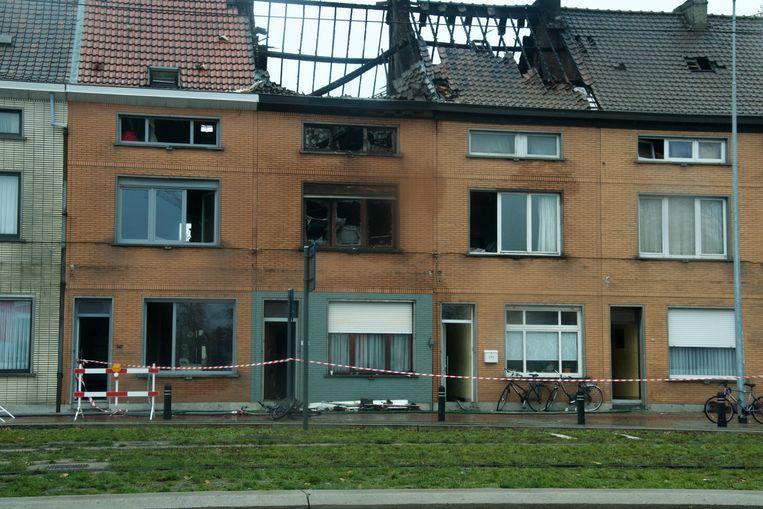 Het huis van de familie is compleet vernield.