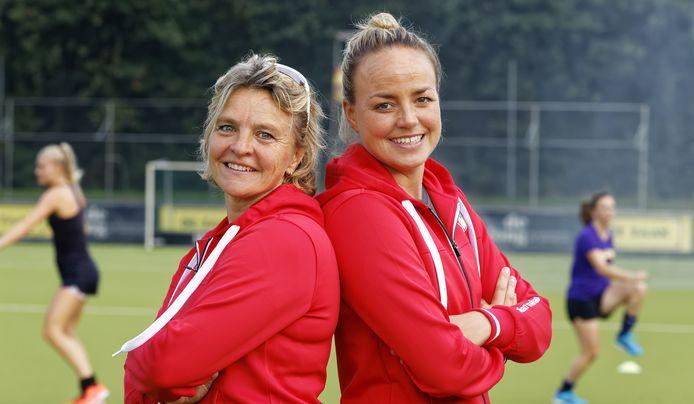 Maartje Paumen en Ageeth Boomgaardt coaches MOP dames 1 vught
