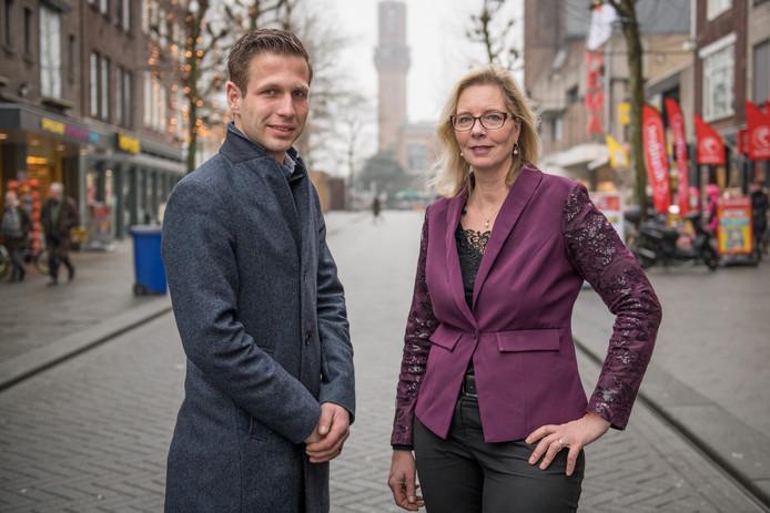 Jordi Rietman en Jeanet Nijhof, die hem opvolgt als lijsttrekker.